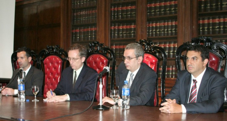 Javier Corrales, John Finn, Jorge Mayer y Alejandro Gómez