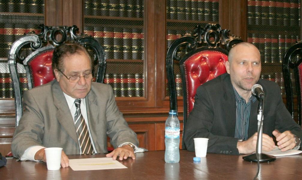 Carlos Elbert y Ronnie Lippens