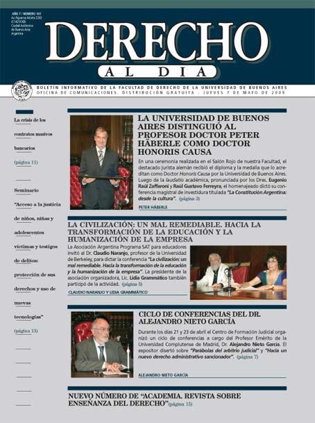 Tapa de Derecho al Día - Edición 141