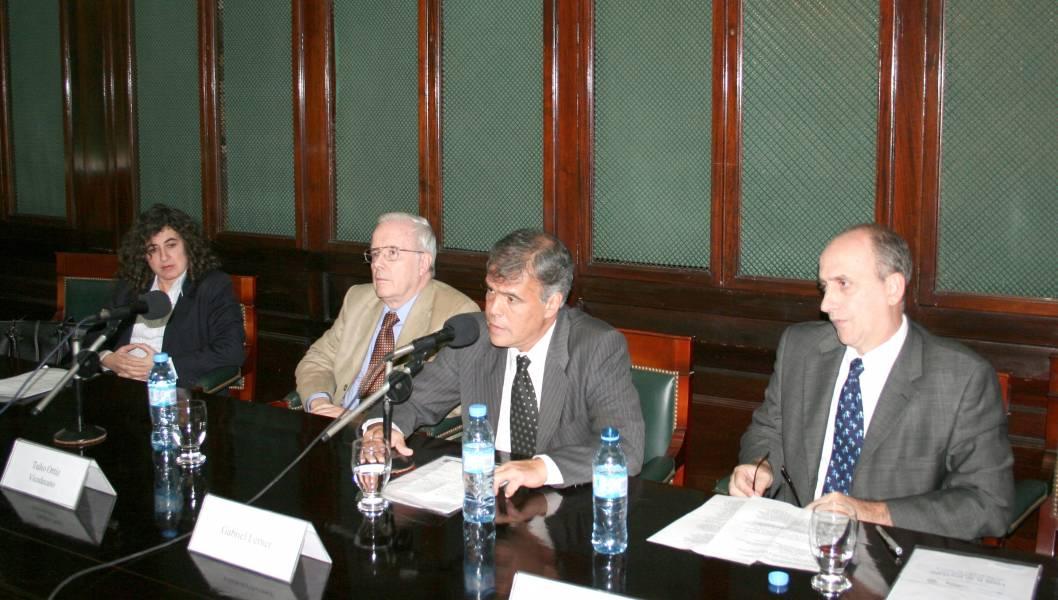 Mary Beloff, Tulio Ortiz, Gabriel Lerner y Ennio Cuffino