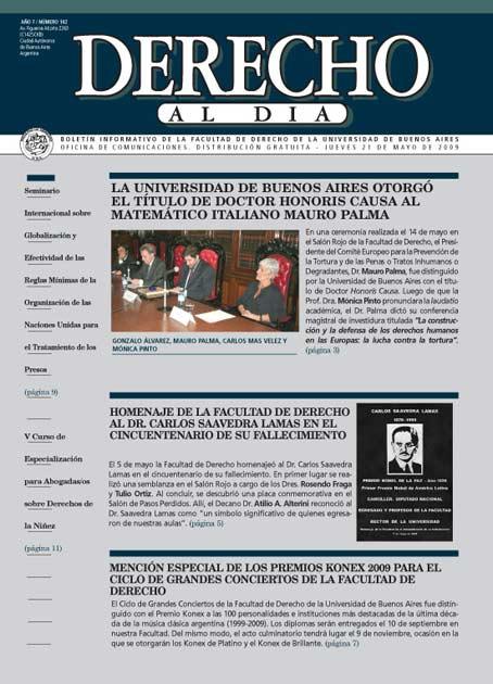 Tapa de Derecho al Día - Edición 142