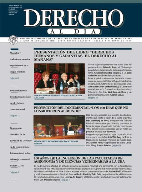 Tapa de Derecho al Día - Edición 143