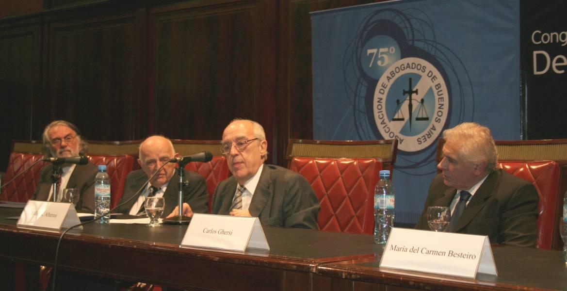 Stella Maris Martínez, Eduardo Tavani, Beinusz Szmukler, Atilio A. Alterini y Carlos Ghersi
