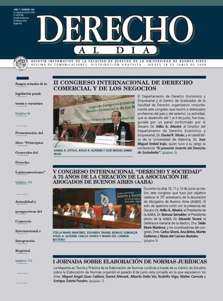 Tapa de Derecho al Día - Edición 144