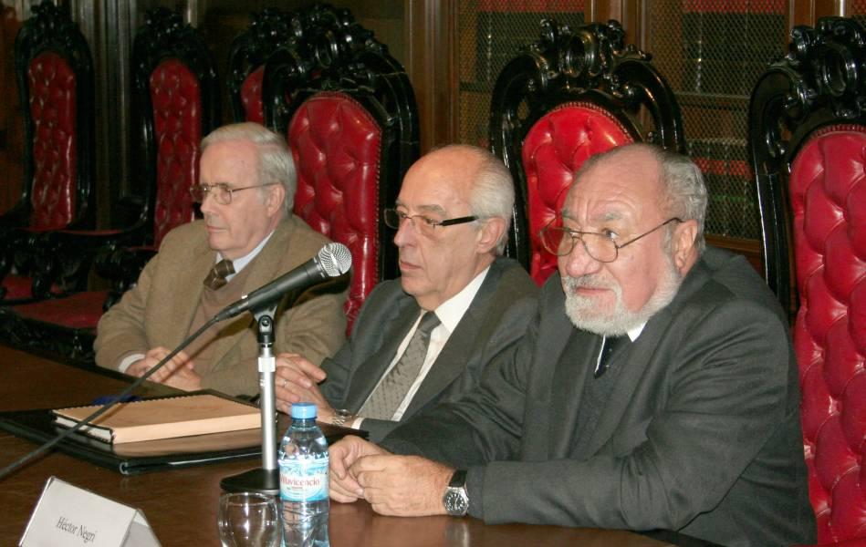 Tulio Ortiz, Atilio A. Alterini y Héctor Negri
