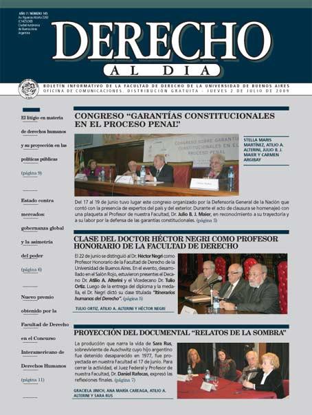 Tapa de Derecho al Día - Edición 145