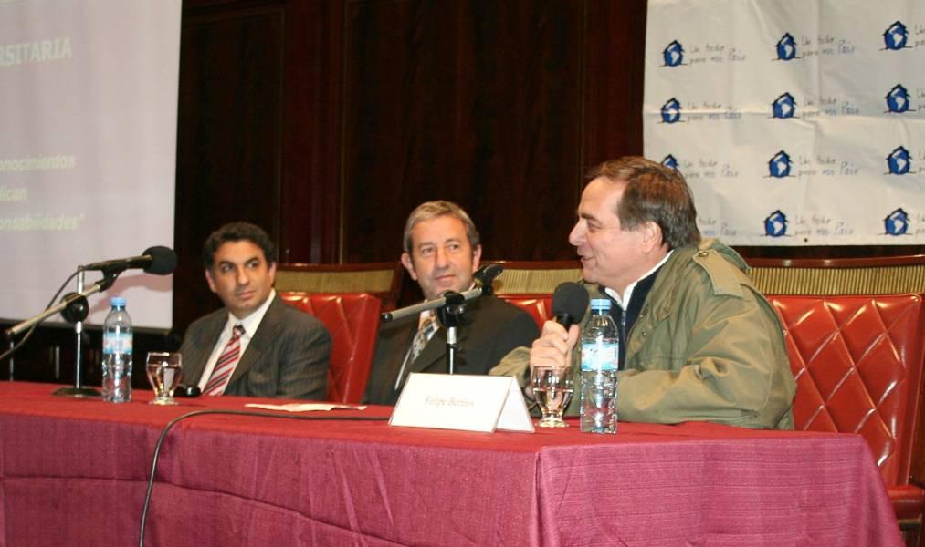 Alejandro Gómez, Julio Cobos y Felipe Berrios