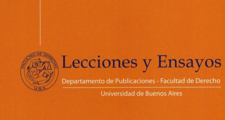 Nuevo número de la Revista Lecciones y Ensayos