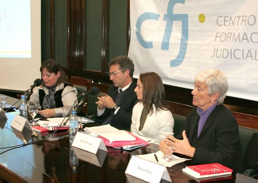 Sandra Fodor, Mariano Fridman, Marisa Braylan y Mónica Pinto