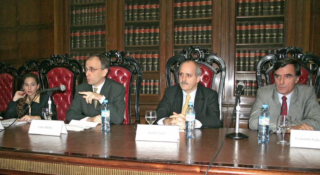 Erica Gorbak, Carlos Balbín, Guido Tawil y Fernando García Pullés
