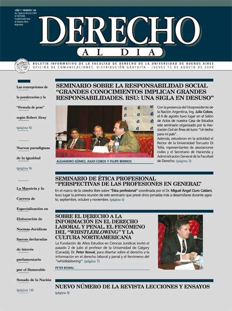 Tapa de Derecho al Día - Edición 146