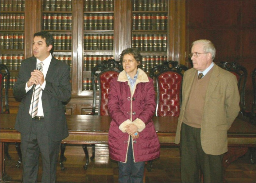 Alejandro Gómez, María Emilia López y Tulio Ortiz