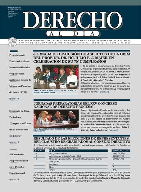 Tapa de Derecho al Día - Edición 147