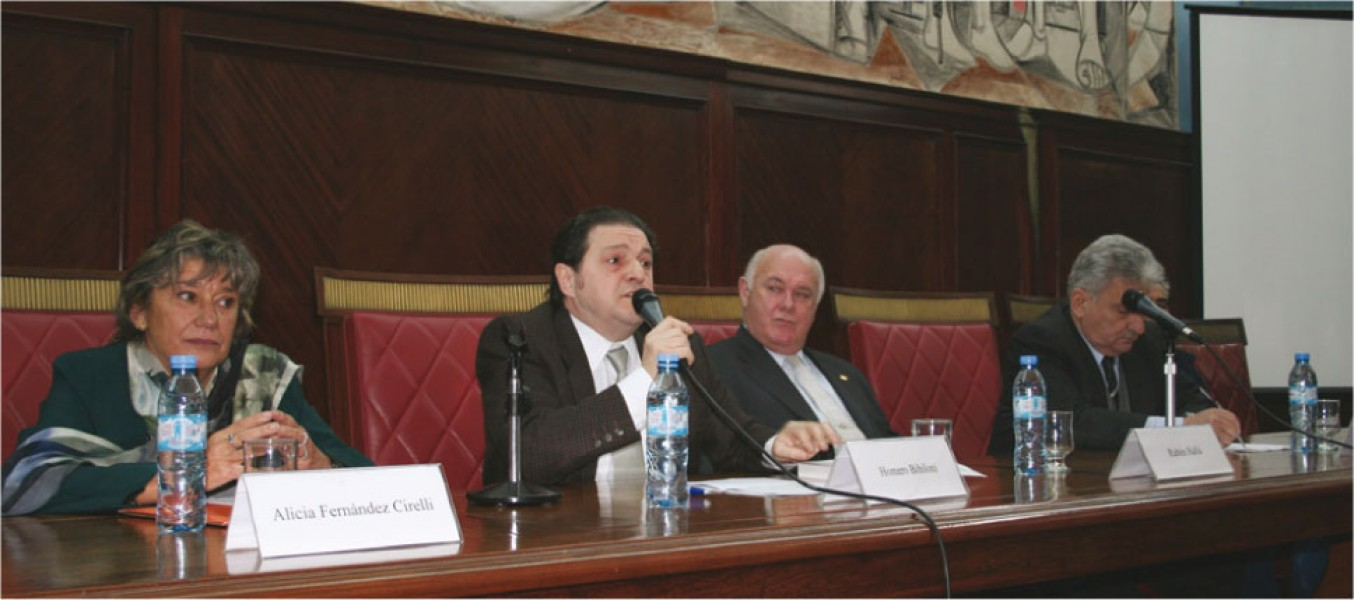 Alicia Fernández Cirelli, Homero Bibiloni, Rubén Hallú y Hugo Sirkin