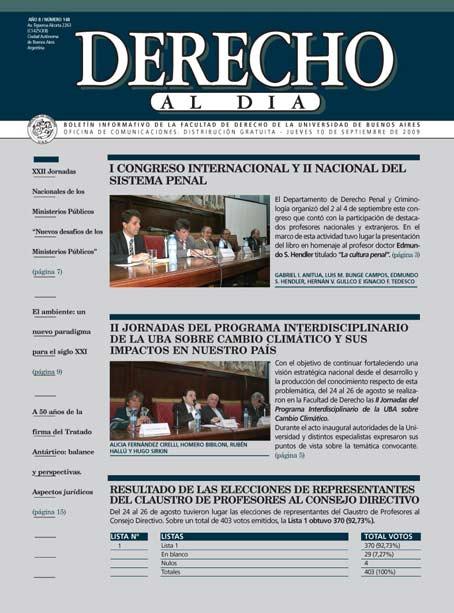 Tapa de Derecho al Día - Edición 148
