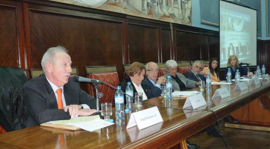 Jorge L. Kielmanovich, Nelly Minyersky, Atilio A. Alterini, Mónica Pinto, Eduardo Molina Quiroga, Marisa Graham y Mariela Macri