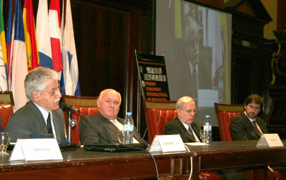 Juan Carlos Tedesco, Rubén Hallú, Tulio Ortiz y Carlos Mas Velez