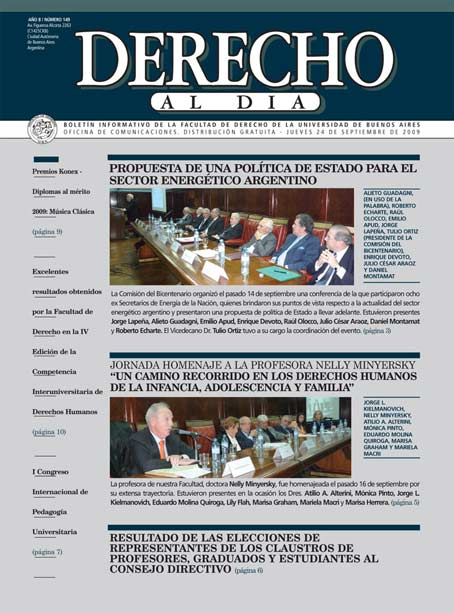 Tapa de Derecho al Día - Edición 149