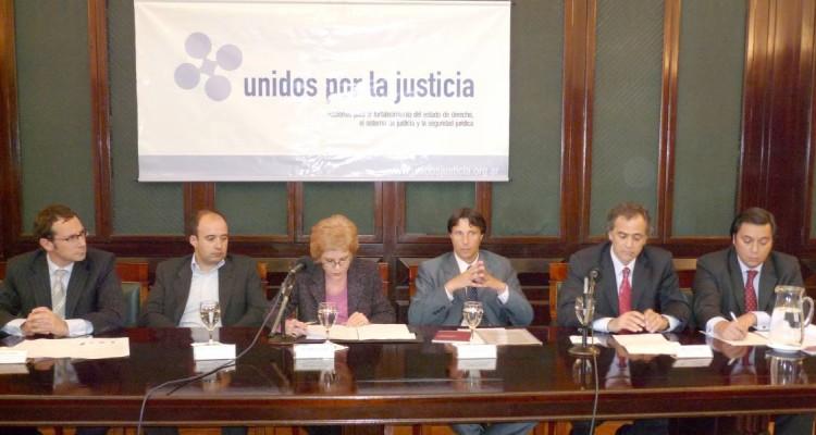 Gustavo Letner, Ramiro Monner Sans, Ana María Conde, Sergio Pistone, Mauricio Devoto y Daniel Presti