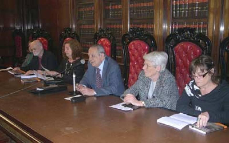 María Luisa Pfeiffer, Martín Roubicek, Patricia Urbandt, Salvador D. Bergel, Elba Martínez Picabea de Giorgiutti y Patrícia Digilio