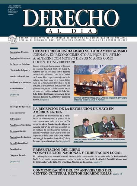 Tapa de Derecho al Día - Edición 151
