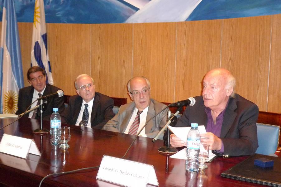 Luis Niño, Tulio Ortiz, Atilio A. Alterini y Eduardo Galeano