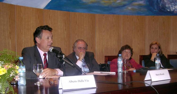 Alberto R. Dalla Vía, Mario Resnik, Beatriz Rajland y Adelina Loianno