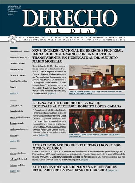 Tapa de Derecho al Día - Edición 153