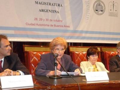 Mauricio Devoto, Ana María Conde, Elena Highton de Nolasco y Mauricio Macri