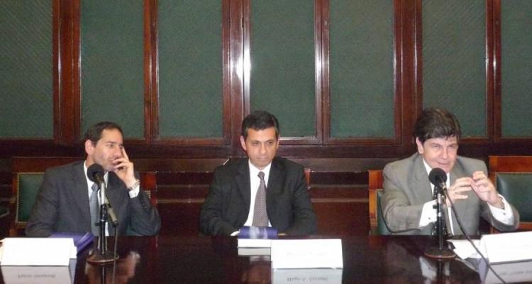 Fulvio Santarelli, Hugo Acciarri y Juan Vicente Sola
