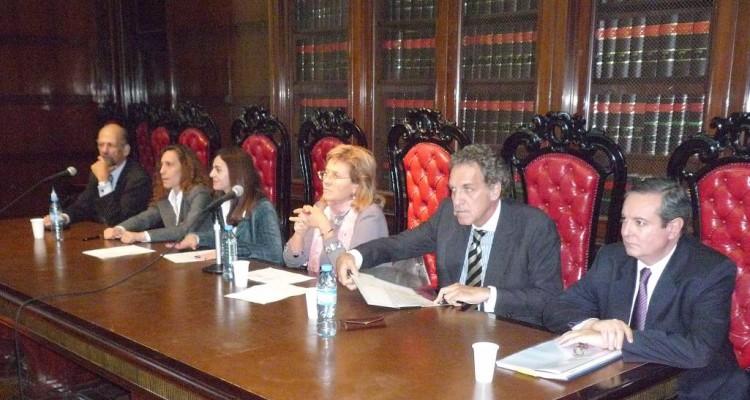 Rafael M. Manóvil, Mónica Rothenberg, Laura Lavia, María Blanca Galimberti, Jorge Bazán y Rafael Barreiro
