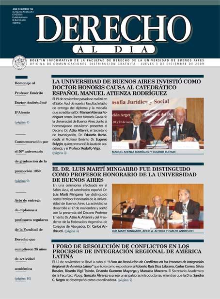 Tapa de Derecho al Día - Edición 154