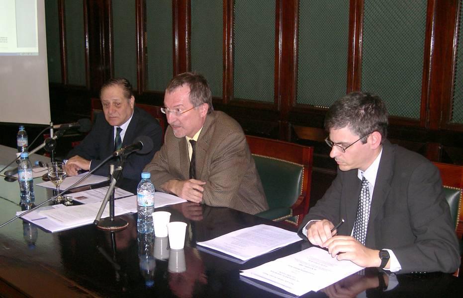 Carlos Elbert, Gerhard Werle y Guillermo Orce