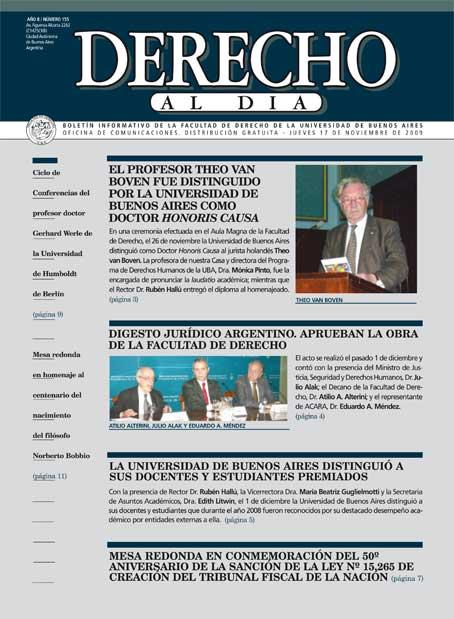Tapa de Derecho al Día - Edición 155