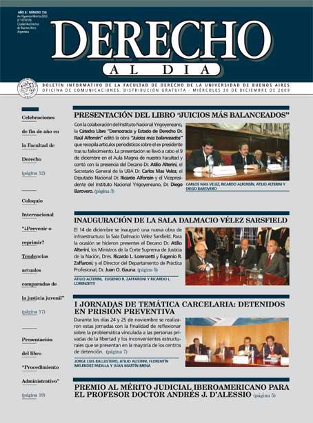 Tapa de Derecho al Día - Edición 156
