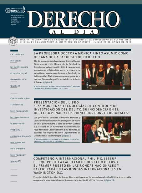 Tapa de Derecho al Día - Edición 157