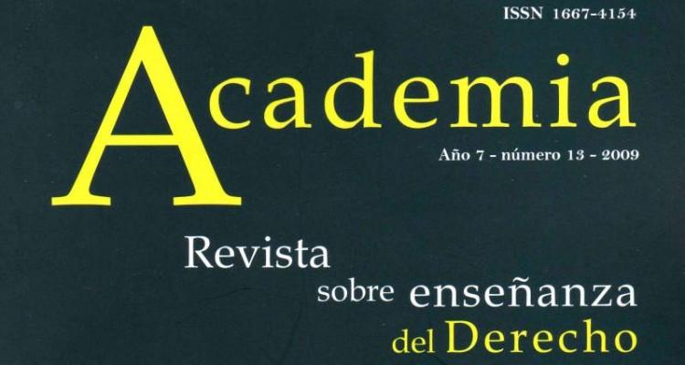 """Aparición del número XIII de """"Academia. Revista sobre enseñanza del Derecho"""""""