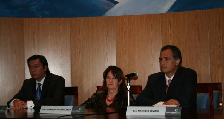 Daniel Presti, Elena Highton de Nolasco y Mauricio Devoto