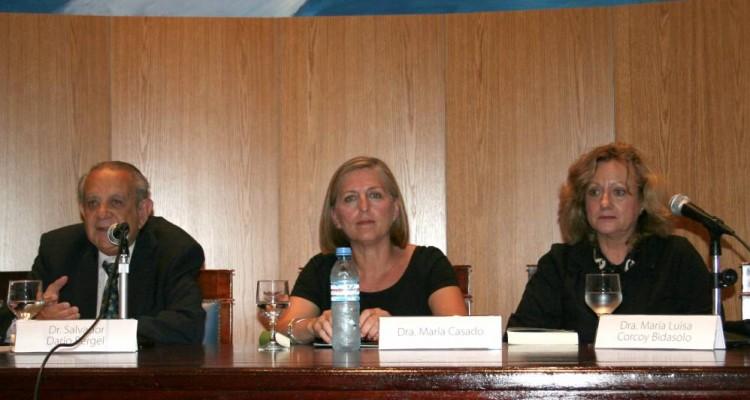 Salvador D. Bergel, María Casado y María Luisa Corcoy Bidasolo