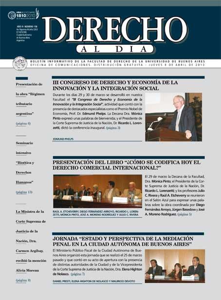 Tapa de Derecho al Día - Edición 158