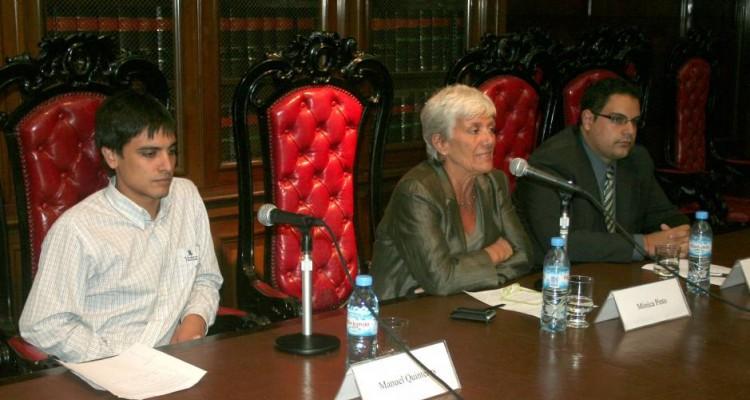 Manuel L. Quinteros, Mónica Pinto y Hernán Arce