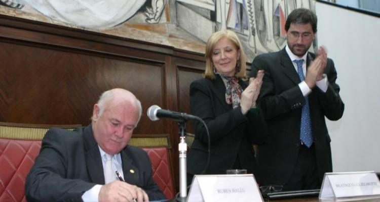 Rubén Hallú, María María Beatriz Guglielmotti y Carlos Mas Velez