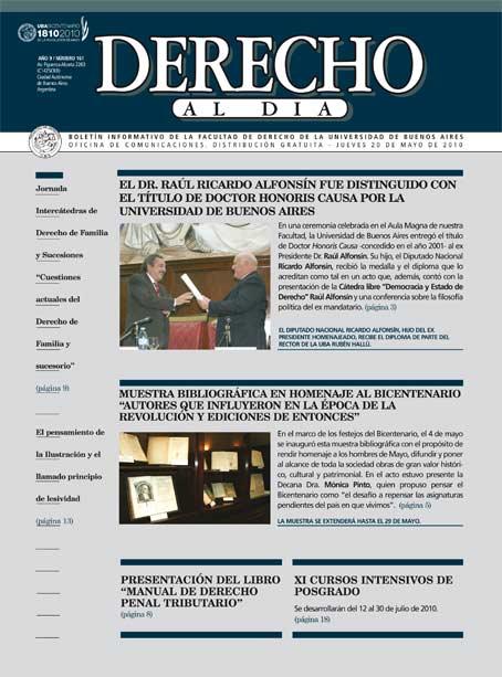 Tapa de Derecho al Día - Edición 161
