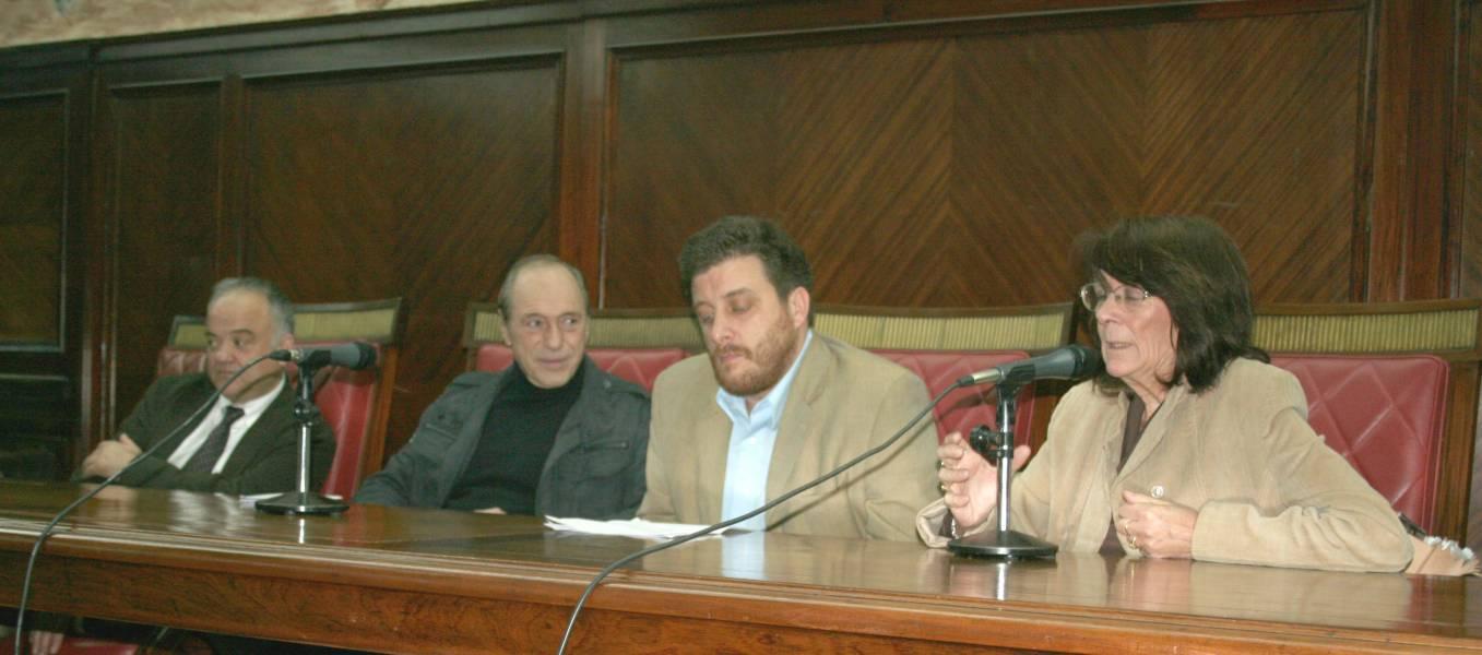 Ramón Saéz Valcárcel, Raúl Zaffaroni, Gastón Chillier y Lucila Larrandart
