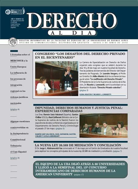 Tapa de Derecho al Día - Edición 162