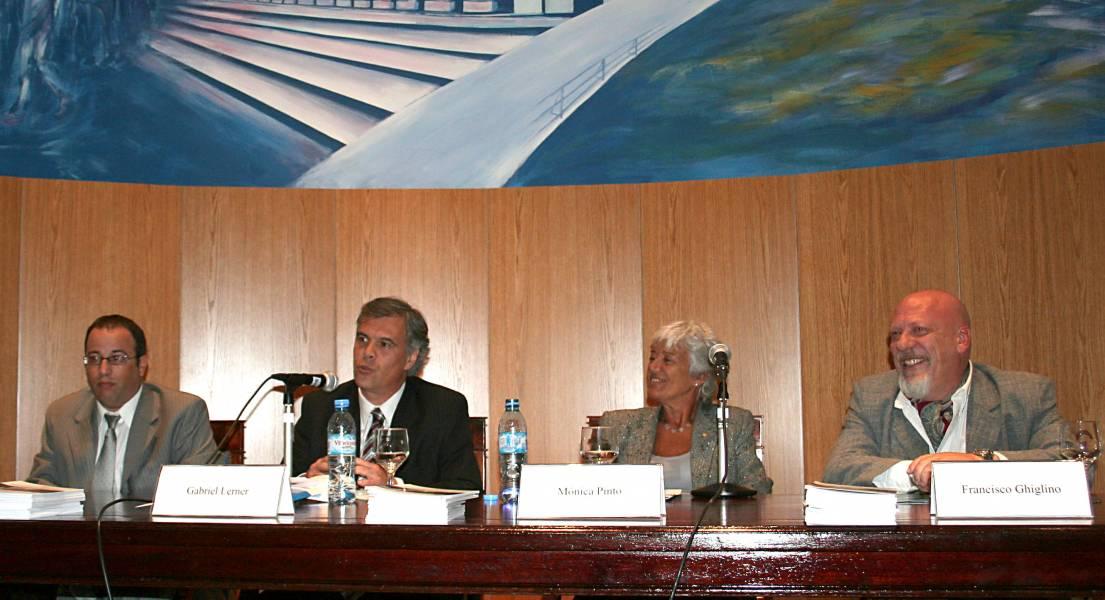 Oscar Zoppi, Gabriel Lerner, Mónica Pinto y Francisco Ghiglino