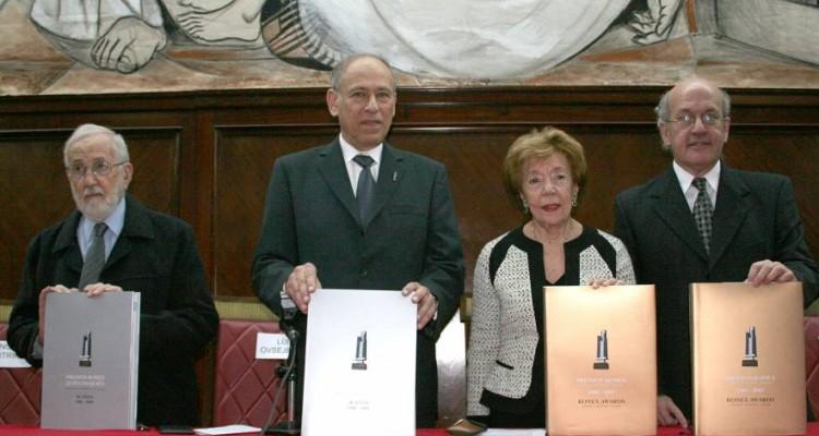 No� Jitrik, Luis Ovsejevich, Pola Su�rez Urtubey y Pablo Sirv�n