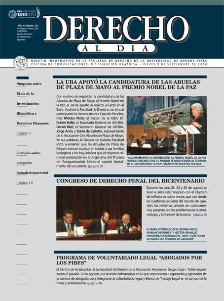 Tapa de Derecho al Día - Edición 165