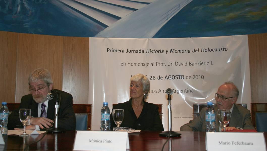 Gregorio Flax, Mónica Pinto y Mario Feferbaum