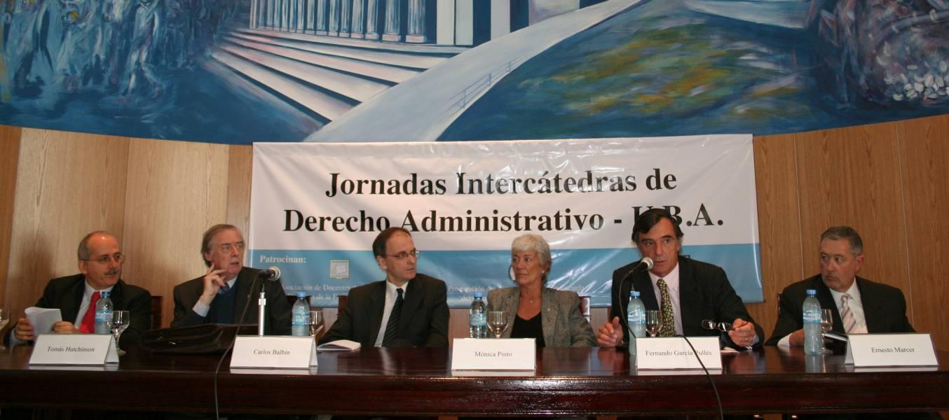 Guido S. Tawil, Tomás Hutchinson, Carlos Balbín, Mónica Pinto, Fernando García Pullés y Ernesto Marcer